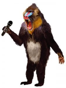 Public Address Announcer Baboon