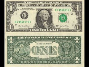 Public Address Announcer Dollar Bill Front and Back
