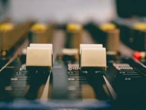Public Address Announcer Mixing Board
