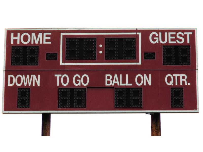 Public Address Announcer Scoreboard