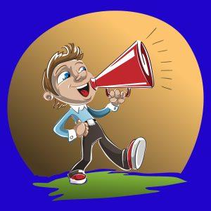 Public Address Announcer Megaphone