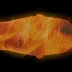Flaming Hot Microphone on fire