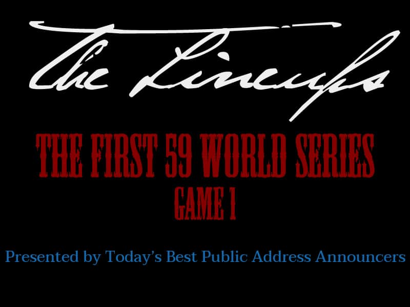 World Series The Lineups Game 1 History