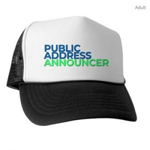 trucker cap for pa announcers
